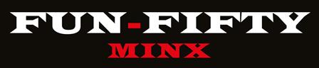 Image is of fun50minx GILF MILF escort logo