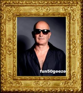 fun50geeze in antique frame
