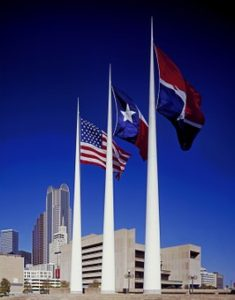 Image of flags in Houston TEXAS