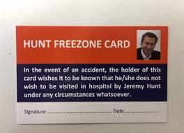 image of Jeremy Hunt free zone