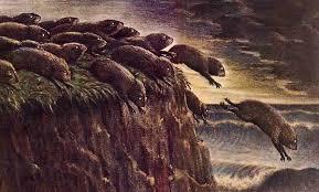Image of suicidal Lemmings