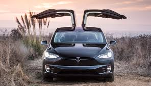 Image of electric car TESLA