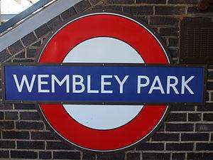 Image of Wembley Park tube station roundel