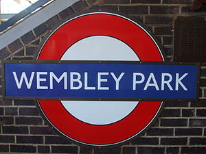 Image of Wembley Park tube station roundel