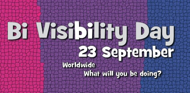 Image of Bi-Visibility Day marking beginning of Bisexual Awareness Week 2018