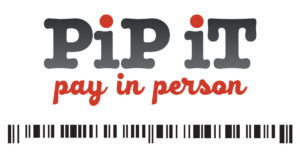 image of pip-it pay in person logo