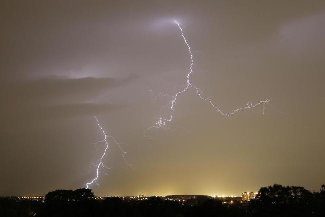 Image of lightning July 2019 over Darlington, home to UK escort couple Minx & Geeze aka fun50couple