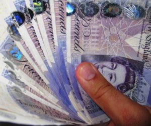 Image of 300GBP in notes, typical North East Escort Outcall feeescort