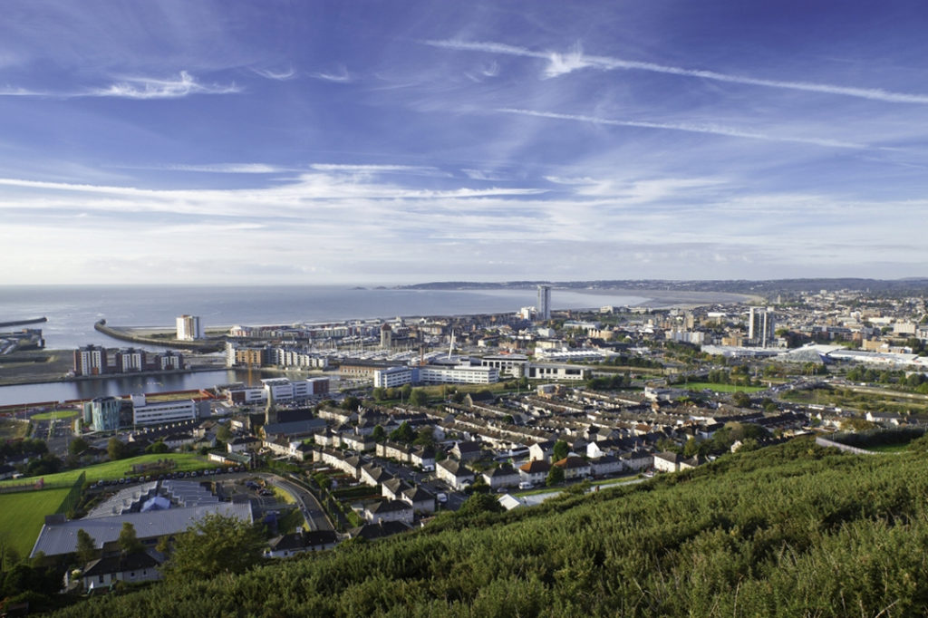 Image of Swansea, tour location for South Wales Escort Couple, Beat #backtoworkbluews in January