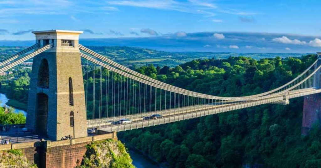 Image of Clifton Suspension Bridge in Bristol, a tour stop for fun50couple Escort Couple South West