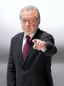 Image of Lord Sugar pointing at Labour, You're fired