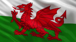 Image of Welsh Flag, publicising escort couple tour to Wales