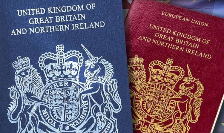 We're a 100% British Escort Couple, Image is of new 2020 blue passport replacing old EU passports