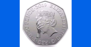 Image of 50 pence piece, which is the pay per minute rate for Erotic Audio Stories