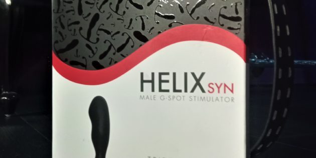 Aneros Helix Syn prostate massage device shown in North East BDSM dungeon setting