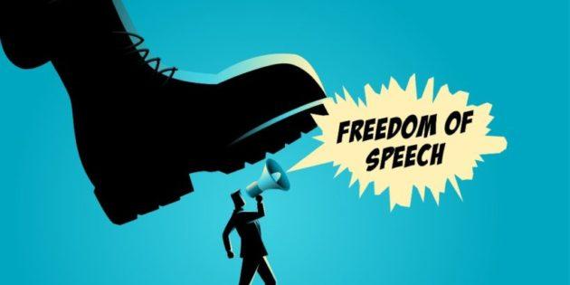 Twitter boot squashing freedom of speech